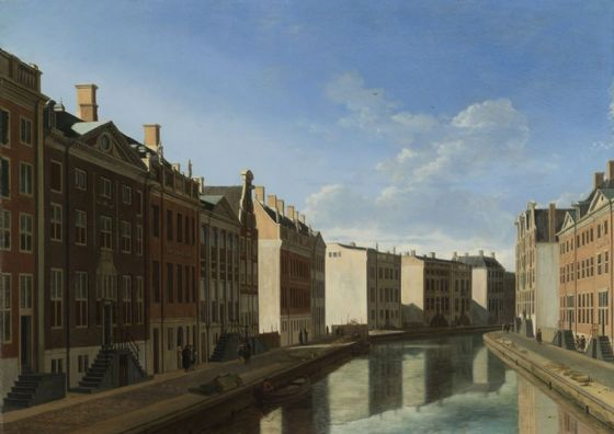 Berckheyde, Gerrit Adriaenszoon: View of the Golden Bend in the Herengracht. Fine Art Print/Poster (4036)